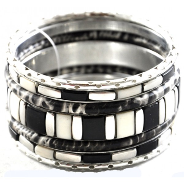 leather steel bangles punk stainless geunine magnetic bracelet jiayiqi black fashion jewelry item buckle braided men