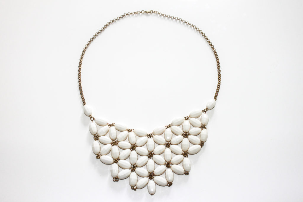 White flower statement necklace nk accessories click to view full screen mightylinksfo