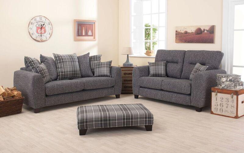 Checked Fabric Sofas Westport 2 Piece Sleeper Sofa Set In