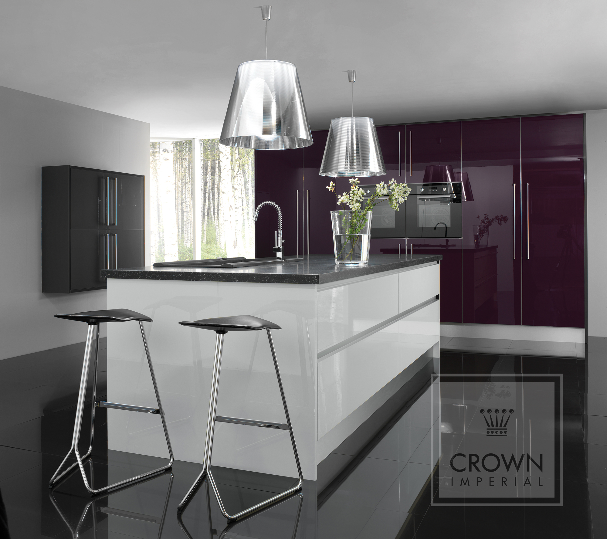 Rialto The Kitchen Centre - Dark grey gloss kitchen